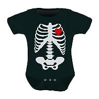 Baby Skeleton X-ray Heart - Halloween Easy Costume Baby Bodysuit 12M Black