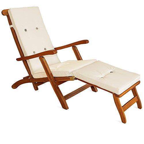 deuba sun lounger cushions pads waterproof steamer recliner relaxer