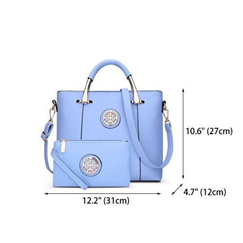 Bags Women's Shoulder Body Leather Bags Cross Handle Handbags Faux Top Wathet Bags 0rq70w