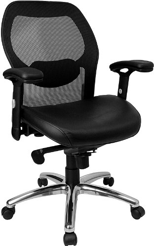 flash-furniture-lf-w42-l-gg-mid-back-super-mesh-office-chair-with-black-italian-leather-seat-and-kne