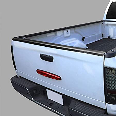 Works with 87-96 Ford F-150 F-250 F-350 Black//Tape-On UrMarketOutlet Rear Tailgate Cargo Truck Bed Cap Molding Rail Protector Cover