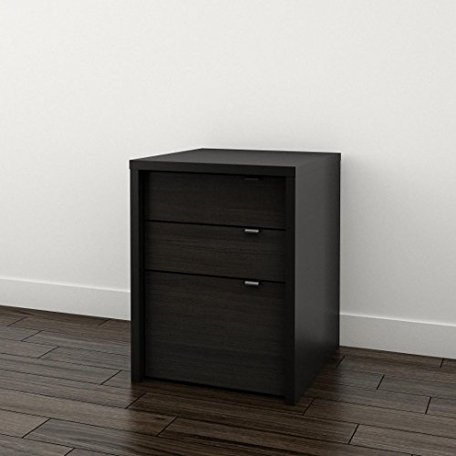 - Sereni-T 3-Drawer Filing Cabinet 211206 from Nexera, Black and Ebony