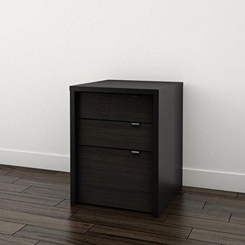 (Sereni-T 3-Drawer Filing Cabinet 211206 from Nexera, Black and Ebony)