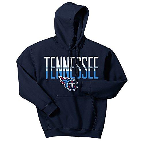 Zubaz NFL Tennessee Titans Men's Gradient Logo Hoodie, X-Large, ()