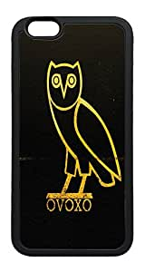 iPhone 6 Plus Case, Drake Owl TPU Rubber Bumper Polycarbonate Hybrid Case Full Protection Case for iPhone 6 Plus 5.5 Black