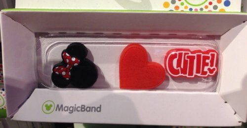 Disney Parks Minnie Mouse Magic Band Sliders Set of 3 Charms NEW