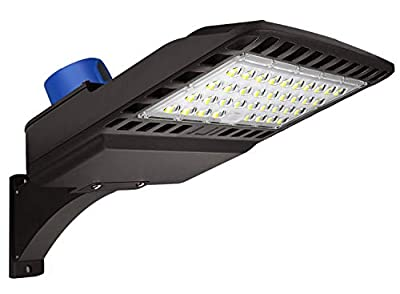 LED Parking Lot Lighting 150W - Dusk to Dawn With Photocell 5000K LED Shoebox Pole Light 19500lm Outdoor Commercial Lighting IP65 Slip Fit Mount for Large Area Street Parking Lot Lights