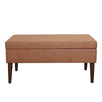 Superieur HomePop Mid Century Storage Bench   Autumn Orange