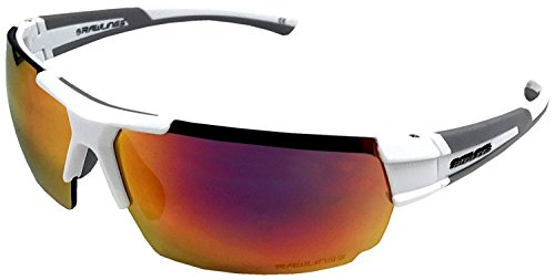 Rawlings 26 MRF Unisex Adult Sport Sunglasses SPT Wrap Orange Mirror 10220226 (Baseball Sunglasses)
