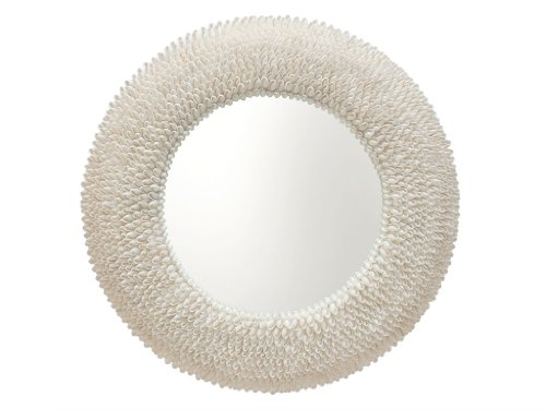 KOUBOO Round Bubble Seashell Wall Mirror