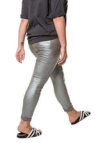 718387 Coupe Jean Grandes Tailles Enduit Slim Untold 5 Argenté Studio Femme Zip Poches Bouton 6qfwI8FxOR