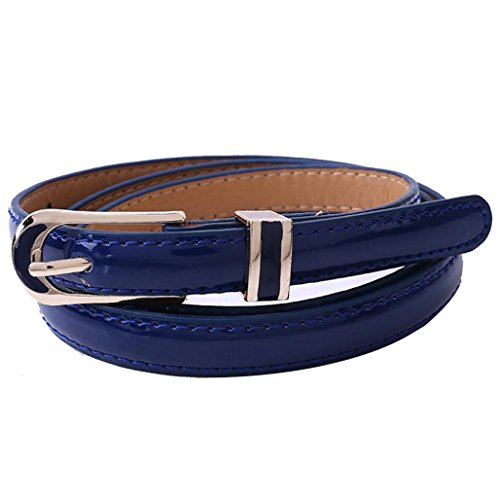 "Clearance!Women's Belt,kaifongfu New Fashion Vintage accessories Casual Belt For Women Thin Leisure Leather Belt (102CM/40.1"", Blue) from kaifongfu Apparel"