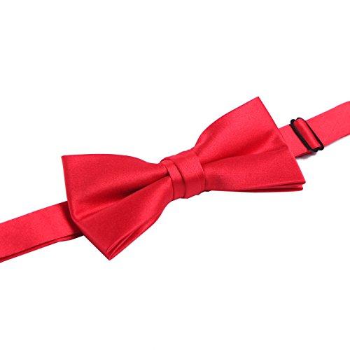 [HDE Mens Premium Bow Tie Adjustable Pre-Tied Neck Tie Fashion Accessory (Red)] (Garnet Cosplay Costume)