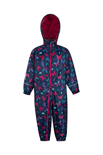 Mountain Warehouse Puddle Kids Printed Rainsuit -Childrens Summer Suit Teal 2-3 Years