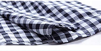 MingHaoyu Womens Shirts Plaid Button Down Gingham Long Sleeve Checked Slim Fit Tops Blouses