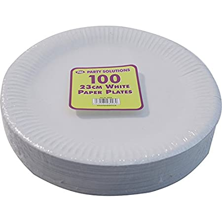 1000 WHITE PAPER PLATES - 9 inch/23cm quality durable plates ideal for hot and  sc 1 st  Amazon UK & 1000 WHITE PAPER PLATES - 9 inch/23cm quality durable plates ideal ...