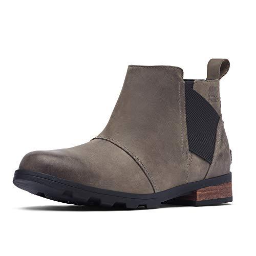 Sorel - Women's Emelie Chelsea Waterproof Ankle Boots, Quarry, 6.5 M US