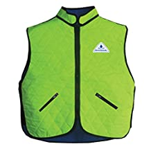 HyperKewl Cooling Deluxe Sport Vest - Enhance your performance in the Heat! - -HI-VIZ LIME-SM