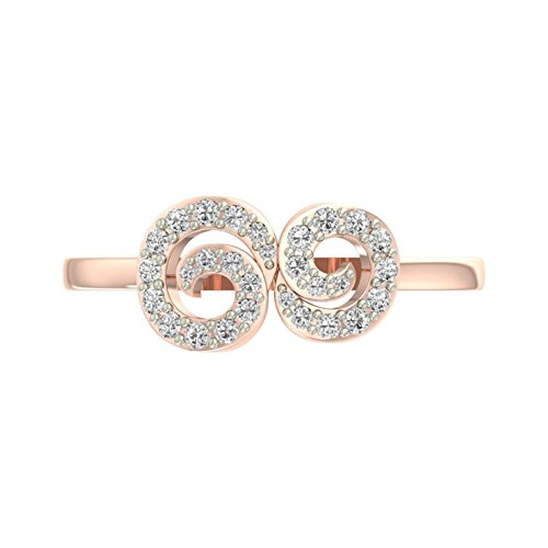 Or Rose 18 K 0,28 CT TW Round-cut-diamond (IJ | SI) en diamant