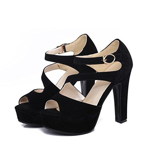 los Verano talón Cabeza diarias 31 Las Atractiva Plataforma del Alto la de Sandalias Hebillas del Impermeable Grandes de 43 2018 del Mujeres Grueso de Pescados tacón los Zapatos Hebilla de SwpRUpAPq
