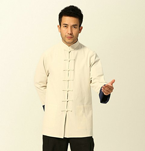 100% Cotton Tang Suits Double-sided Wear Retro Jackets Coats Business Jackets Full Dress by Double-sided Wear Tang Suit (Image #3)