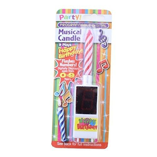 Ardisle DIGITAL MUSICAL FLOWER HAPPY BIRTHDAY CANDLE PARTY PRESENT GIFT MUSIC
