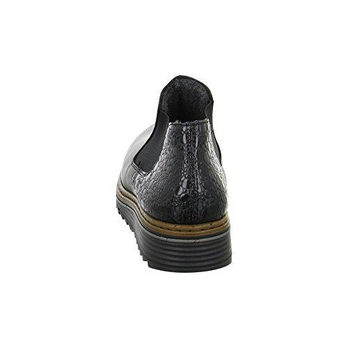 Rieker Damen Stiefel schwarz, 961159-1 negro