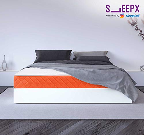 SleepX Presented by Sleepwell Brill PU Foam Mattress - (72x72x5 Inches) with Free Pillows