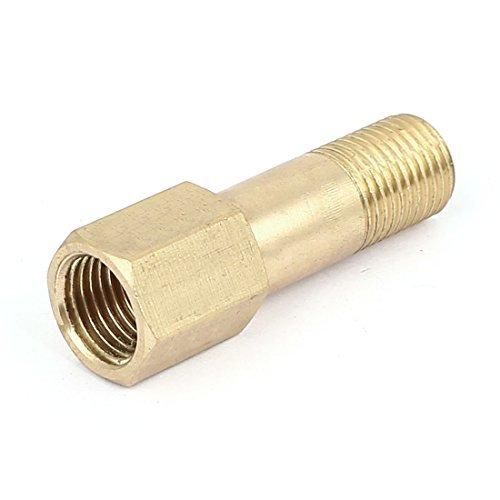 eDealMax 11.8mm hembra a 9 mm de rosca macho de latón tubo recto adaptador de montaje - - Amazon.com