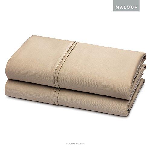 Mandalay Queen (woven TENCEL Pillowcase Set - Silky Soft, Refreshing and Eco-Friendly - Queen - Ecru - 2pc)