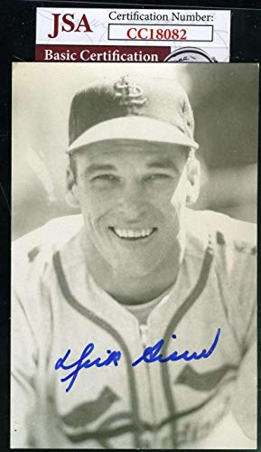 DICK SISLER COA Autograph Photo Postcard Hand Signed Authentic JSA Certified MLB Cut Signatures