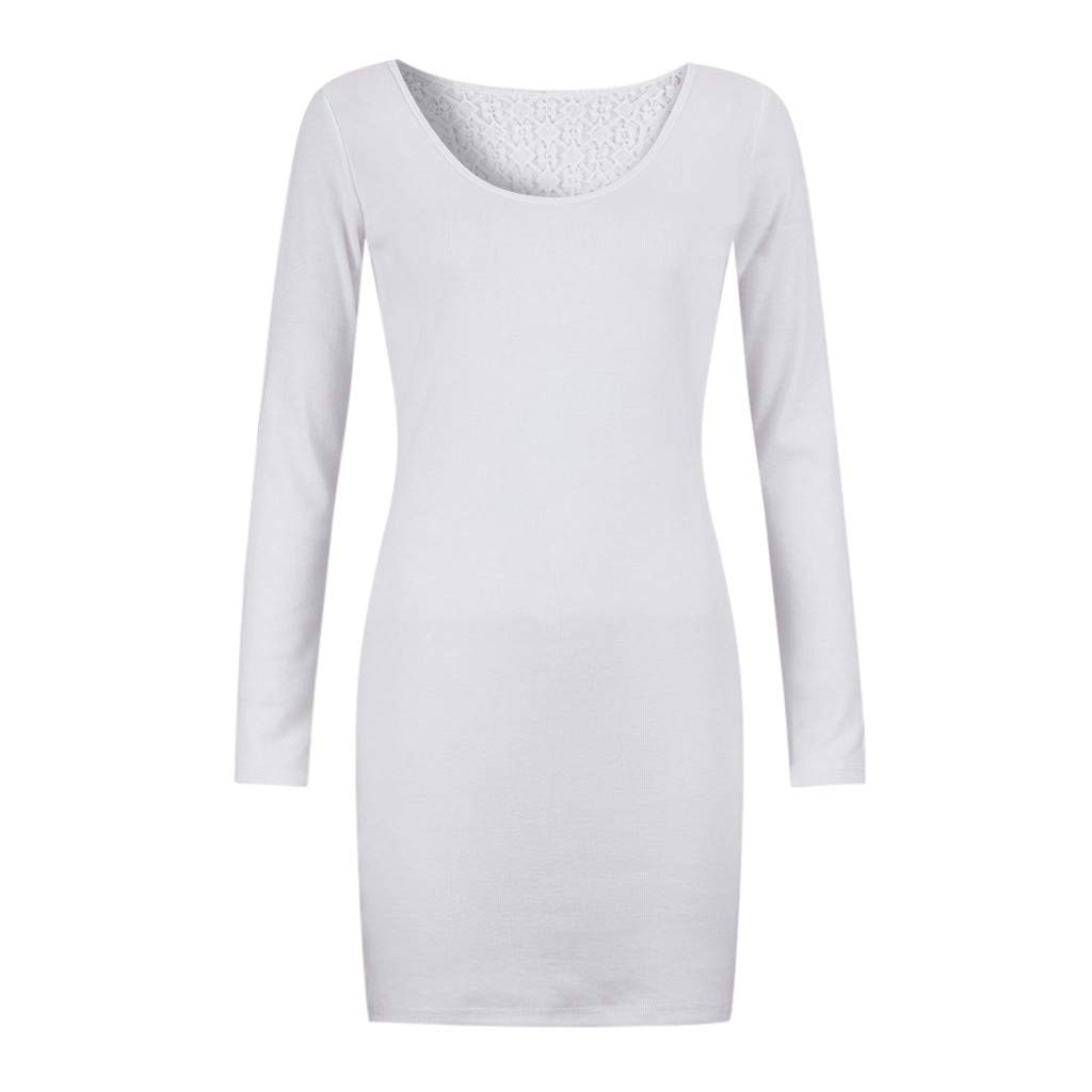 Daorokanduhp Womens Cocktail Evening Party Mini Dress Long Sleeve Slim Fit Bodycon Sheath Dress for Evening Cocktail Party