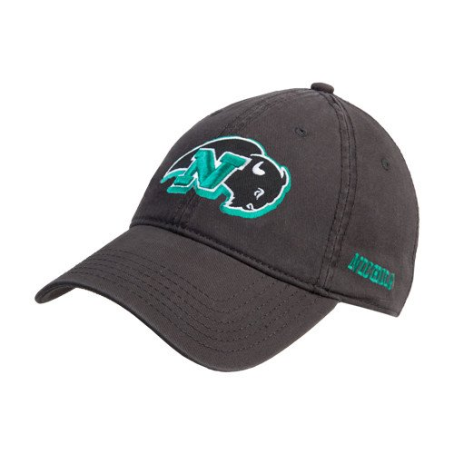 - Nichols College Charcoal Twill Unstructured Low Profile Hat 'N w/Bison'