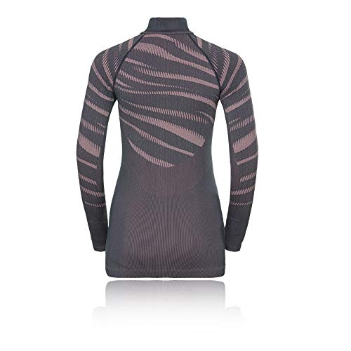 Cremallera Turtleneck Gris Odlo Negra Aw18 1 2 Women's sleeve Comb Long qRwX8C
