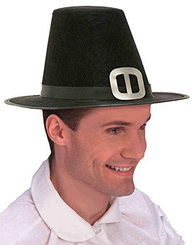 Forum Novelties Men's Novelty Adult Pilgrim Man Hat, Black, One Size