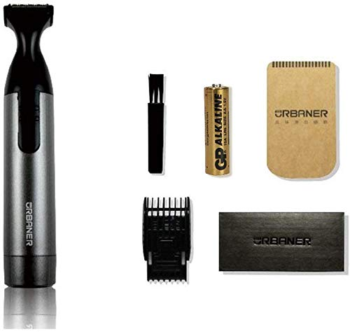 URBANER MB-042 Beard Trimmer Mustache Trimmer Grooming Kit for Men, Battery-Operated, Waterproof