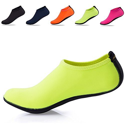 Barefoot for Skin Aqua JACKSHIBO Shoes Water Yoga Flexible Socks Swimming Men's Green Women's Surf Beach pxwwtzq