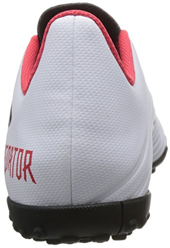 Adidas Predator 18.4 Voetbal Voetbalschoenen - Volwassen - Wit / Zwart / Echt Koraal - Uk Schoenmaat 7