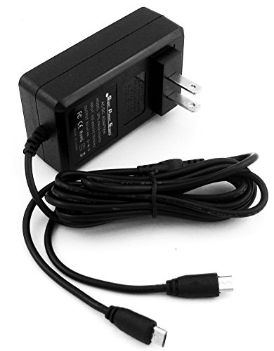 Super Power Supply AC / DC Adapter Charger 6.5 FT Cord 4A Rapid Charge Dual Tip for HP Touchpad 16 Gb 32 Gb Wi-fi 9.7-inch; HP Stream 7 5701, 5709; 8 5801, 5901; HP Slate 7 S7 1800, 2800, 2801, 3400US HD, 1301US, 1302, 4200US Plus, 4400us Extreme, 4501, 4600; Slate 8 Pro S8 7600US, 1401US; Slate 10 HD S10 3500US, 3600US; HP 10 Plus 2201 Tablet PC Tab MicroUSB Micro USB Wall Plug