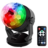 Party Lights Disco Ball Light Sound Activated USB Battery Powered, Portable Outdoor and Indoor Dj Lighting Karaoke Machine Strobe Stage Par Lamp for Kids Birthday Gift Room Holiday