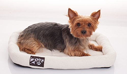 Cheap 2PET Soft Padded Fleece Pet Bed by Cushy Bed All Season Crate Pad for Your Pet's Comfort Double Fleece Filling for Better Cushioning Waterproof, Easy to Clean Sturdy Border for Head Support20 x14
