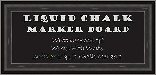 Allure Framed Art - Amanti Art Allure Charcoal Framed Organization Board, Size 30x12