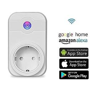 COOSA Enchufe Inteligente Wifi Inalámbrico, Repetidor Control Remoto Móvil, Controle sus Dispositivos desde Cualquier Lugar, Funciona con Alexa y Google Home
