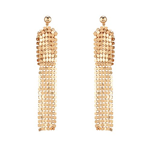 Mandy garden Europe and America elegant sexy sequined tassels long earrings ear jewelry women girls fashion personality exaggerated from Generic