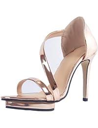 YCMDM Womens Sandals Stiletto Heel Nightclub Party Evening Office Career Fashion Shoes  XOHF1H6AV