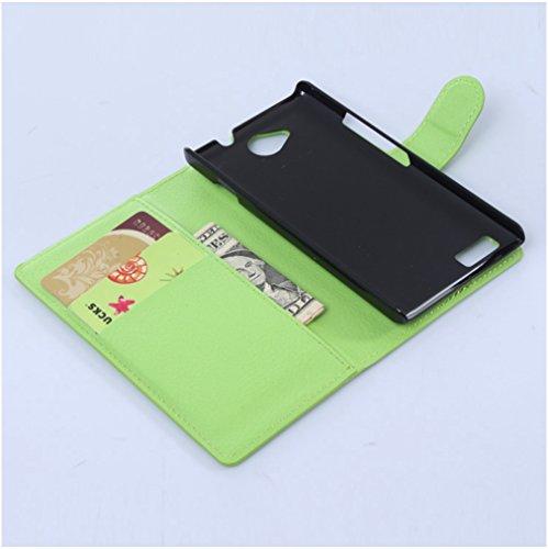 Funda ZTE BLADE G LuX,Manyip Caja del teléfono del cuero,Protector de Pantalla de Slim Case Estilo Billetera con Ranuras para Tarjetas, Soporte Plegable, Cierre Magnético F