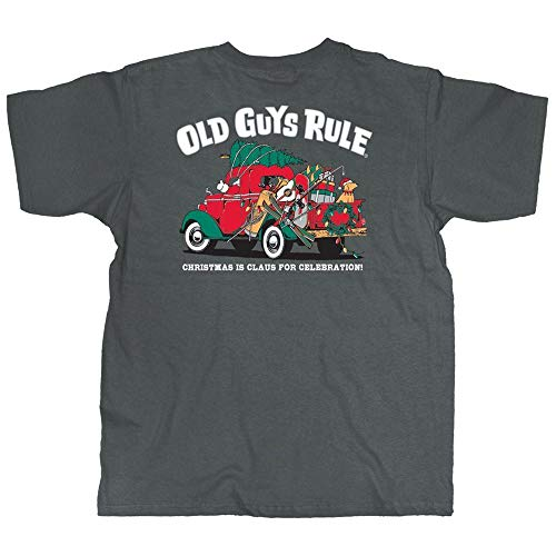 Old Guys Rule Men's 2018 Holiday Limited Edition Short Sleeve Shirt, Charcoal (CHRCL/Char), Medium ()