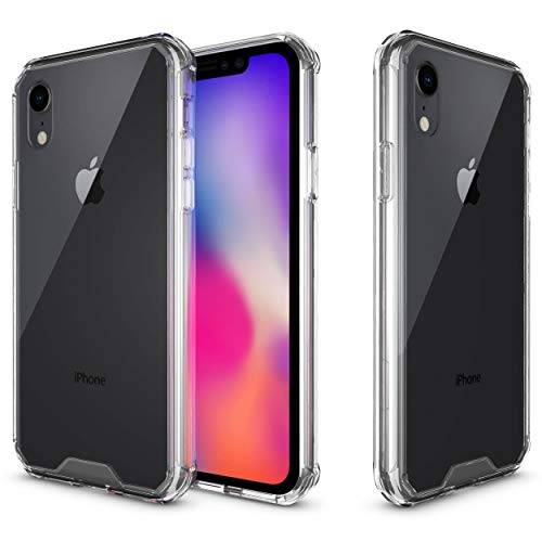 rooCASE iPhone XR Case, Plexis Ultra Slim and Lightweight TPU PC Cover Designed for Apple iPhone XR (2018), Clear