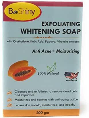Skin Lightening Brightening Soap with Glutathione Kojic Acid Papaya Vitamins Anti Acne Anti Aging Face Moisturizer 200 g to lighten blemishes dark spots Prevent Pimples and remove blackheads