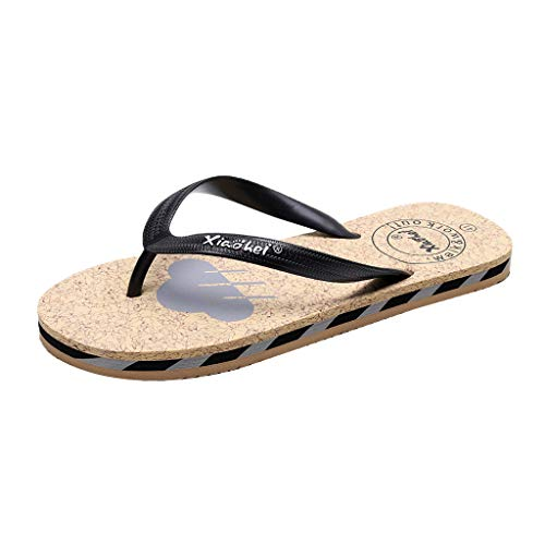 〓COOlCCI〓Comfortable Mens Flip Flops,Arch Support Sandals for Beach, Outdoor & Indoor Shoes Comfort Slippers Gray